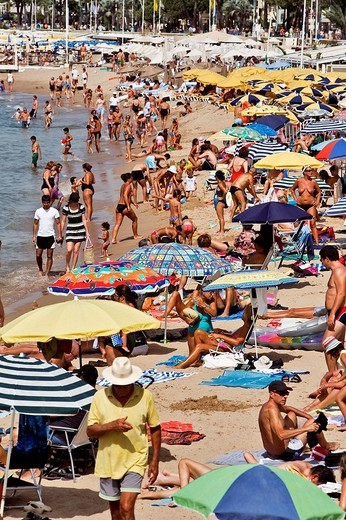 Stock Photo: 1792-88086 France, Alpes Maritimes, Cannes, Croisette, the beach