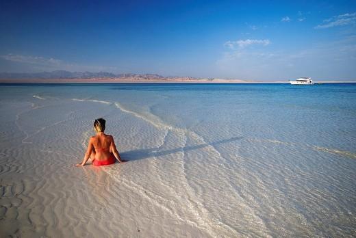 Egypt, Desert du Sinai, near Sharm el Sheikh, the Red Sea, tourist : Stock Photo