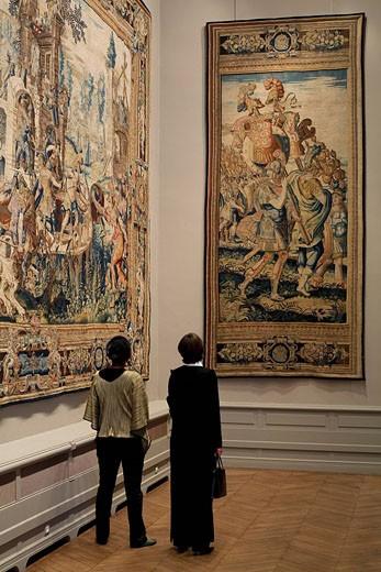 Stock Photo: 1792-88806 France, Paris, Galerie des Gobelins, exhibition Les Gobelins 1607_2007 : Tresors dévoiles, contemporary tapestries