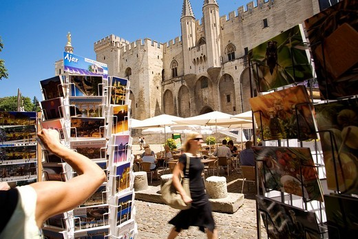 Stock Photo: 1792-89600 France, Vaucluse, Avignon, Palais des Papes, listed as World Heritage by UNESCO
