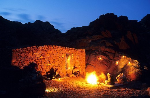 Egypt, Sinai Peninsula, Saint Catherine, bivouac with the bedouins : Stock Photo