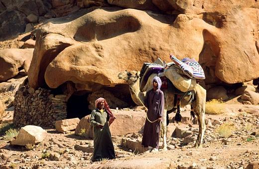 Stock Photo: 1792-89616 Egypt, Sinai Peninsula, Saint Catherine, bedouins