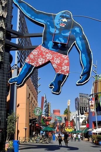 United States, California, Los Angeles, Universal Studio, the City Walk : Stock Photo