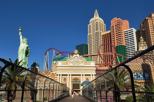 Stock Photo: 1792-90133 United States, Nevada, Las Vegas, Las Vegas Boulevard The Strip, the hotel_casino New_York New_York