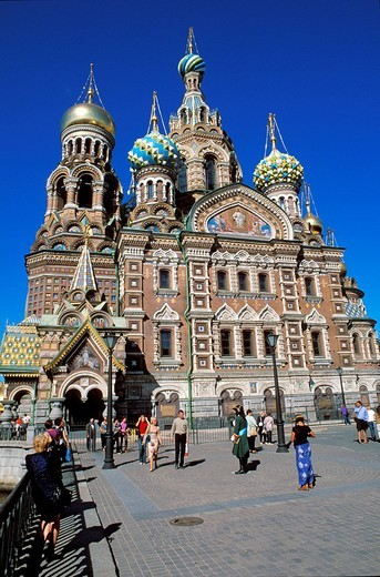 Stock Photo: 1792-91012 Russia, Saint Petersburg, Church of the Saviour on the Spilled Blood 1883 _ 1907