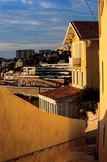 Stock Photo: 1792-91448 France, Bouches du Rhone, Marseille, the Corniche from the Montee de la Batterie