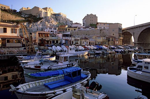 Stock Photo: 1792-91503 France, Bouches du Rhone, Marseille, the Corniche, Vallon des Auffes