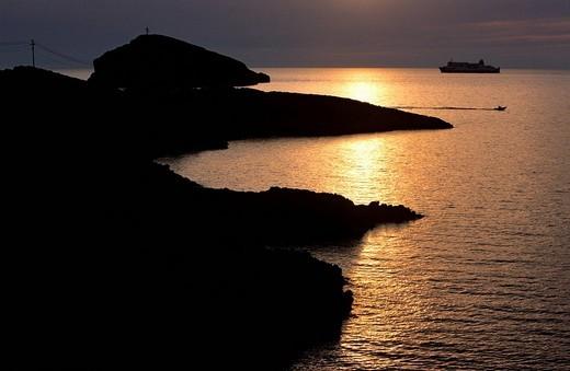 Stock Photo: 1792-91509 France, Bouches du Rhone, Marseille, Cap Croisette, Goudes road, Tiboulen island