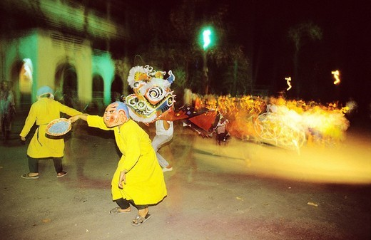 Vietnam, Saigon Ho Chi Minh City, Christmas celebration among the Christian community : Stock Photo