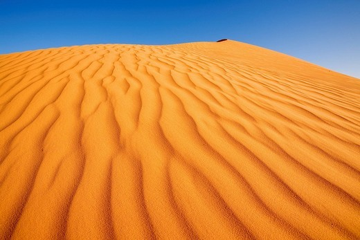 Stock Photo: 1792-93244 Mauritania, Adrar Region, Chinguetti area, Enelekeme Kemete, sand ripple marks on dune