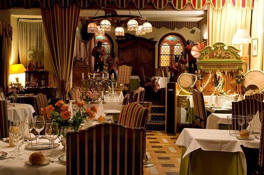 France, Isere, Corps, Hotel de la Poste, gastronomical stop on Route Napoleon : Stock Photo