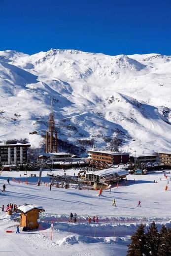France, Savoie, Les Menuires, La Croisette : Stock Photo