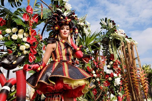 Stock Photo: 1792-94305 France, Alpes Maritimes, Nice, carnival parade