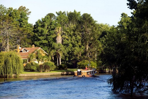 Argentina, Buenos Aires Province, Tigre village on Parana Delta : Stock Photo
