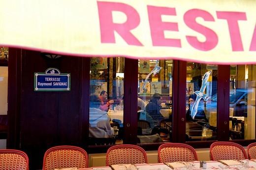 France, Calvados, Pays d´Auge, Trouville sur Mer, restaurant : Stock Photo