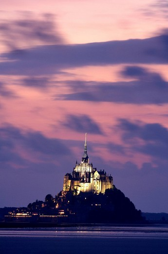 Stock Photo: 1792-95091 France, Manche, bay of Mont Saint Michel, listed as World Heritage by UNESCO