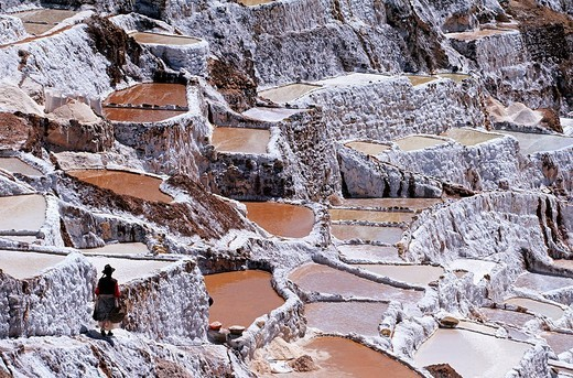 Stock Photo: 1792-95173 Peru, Cuzco Province, sacred valley, the salt marshes of Maras
