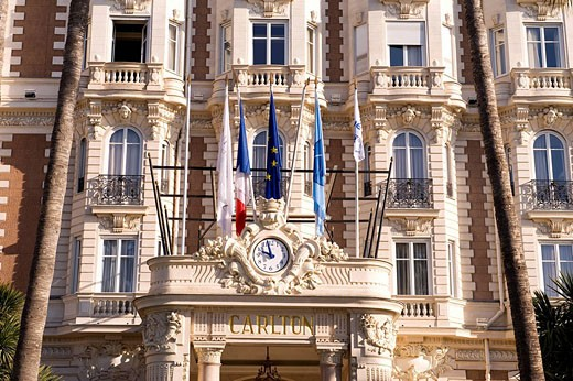 France, Alpes Maritimes, Cannes, Croisette, Carlton Hotel : Stock Photo