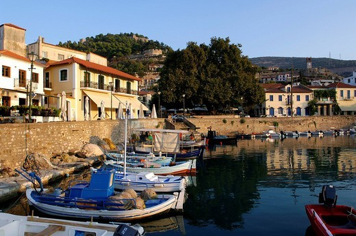Stock Photo: 1792-95640 Greece, Central Greece, Gulf of Corinth, Naupactus, Venetian harbour