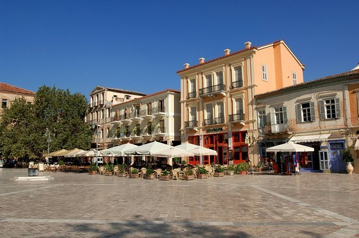 Stock Photo: 1792-95656 Greece, Peloponnese, Nafplion, Syntagma Square