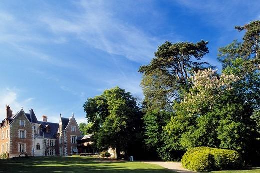 France, Indre et Loire, Amboise, Le Clos Luce castle, Leonardo Da Vinci park Leonardo Da Vinci´s last house : Stock Photo