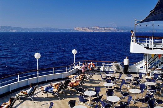 France, Corse du Sud, cruising off Bonifacio : Stock Photo