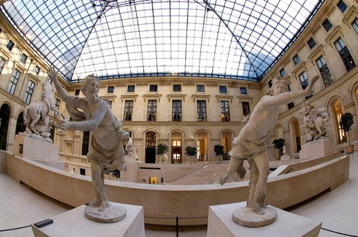 Stock Photo: 1792-96048 France, Paris, Louvre museum, the Marly courtyard
