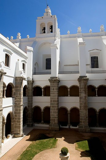 Portugal, Alentejo region, Evora, listed World Heritage by UNESCO, Convento do Espinheiro Hotel Heritage : Stock Photo