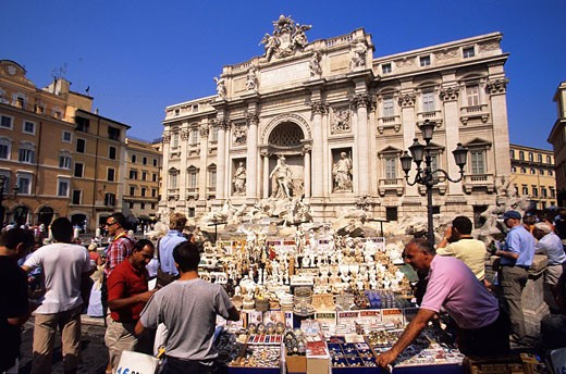 Stock Photo: 1792-96966 Italy, Lazio, Rome, listed as World Heritage by UNESCO, Quirinale District, Trevi Fountain
