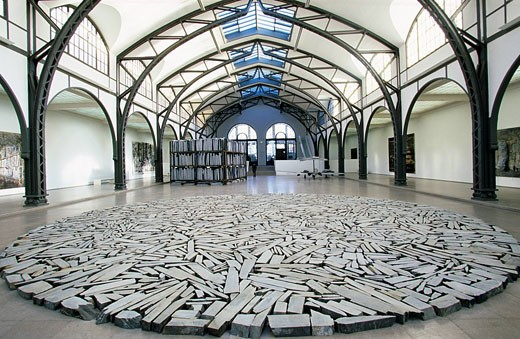 Germany, Berlin, Hamburger Banhof Contemporary Museum, installation : Stock Photo