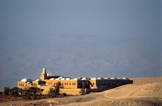 Palestine, West Bank disputed territory, Judean Desert near Jericho, Nebi Musa caravanserai : Stock Photo