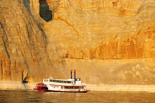 United States, Arizona, Glen Canyon National Recreation Area, Lake Powell near Page, boat trip : Stock Photo