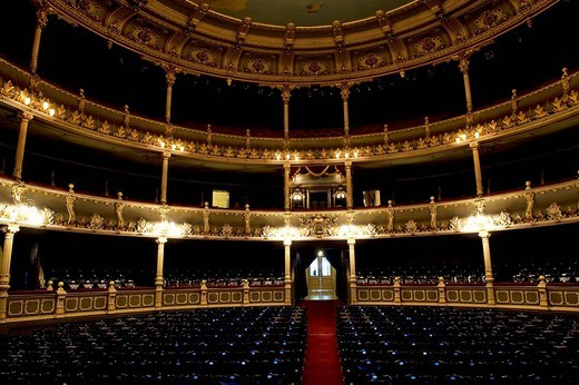 Costa Rica, San Jose Province, San Jose, National Theatre : Stock Photo