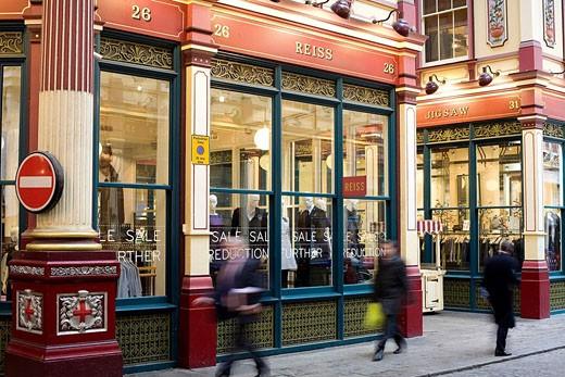 Stock Photo: 1792-98610 United Kingdom, London, the City, Leadenhall Market by architect Horace Jones 1881