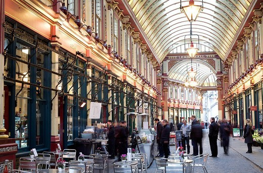 Stock Photo: 1792-98623 United Kingdom, London, the City, Leadenhall Market by architect Horace Jones 1881