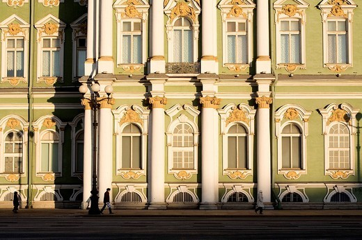 Russia, Saint Petersburg, Winter Palace, hosting the Hermitage Museum, built by Bartolomeo Rastrelli 1754 _ 1762, listed as World Heritage by UNESCO : Stock Photo
