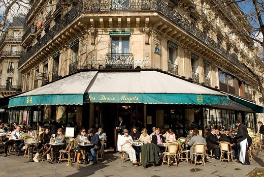 Stock Photo: 1792-98901 France, Paris, Boulevard Saint Germain, Les Deux Magots cafe