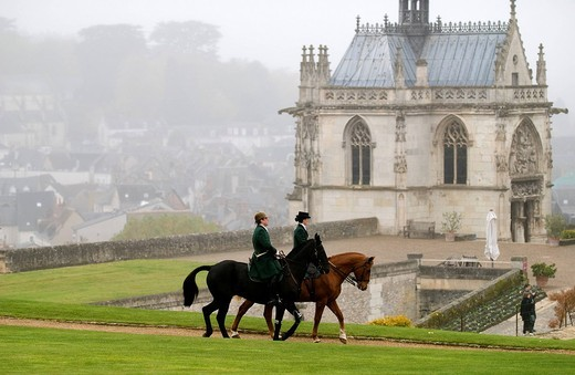 Stock Photo: 1792-99726 France, Indre et Loire, Loire Valley listed as World Heritage by UNESCO, château d´Amboise, Saint_Hubert feast, the patron saint of hunters, the first Saturday in November