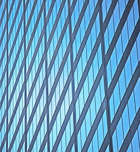 side of skyscraper, New York City : Stock Photo