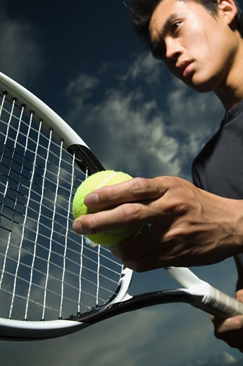 Close up of tennis player : Stock Photo
