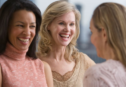 Stock Photo: 1795R-12403 Multi-ethnic women laughing