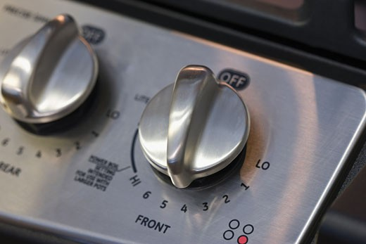 Stock Photo: 1795R-15783 Close up of stove dial