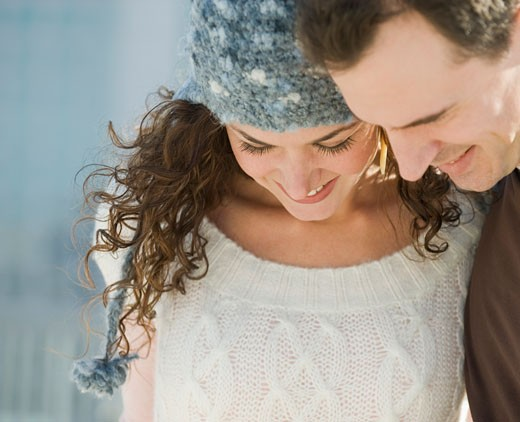 Close up of couple looking down : Stock Photo
