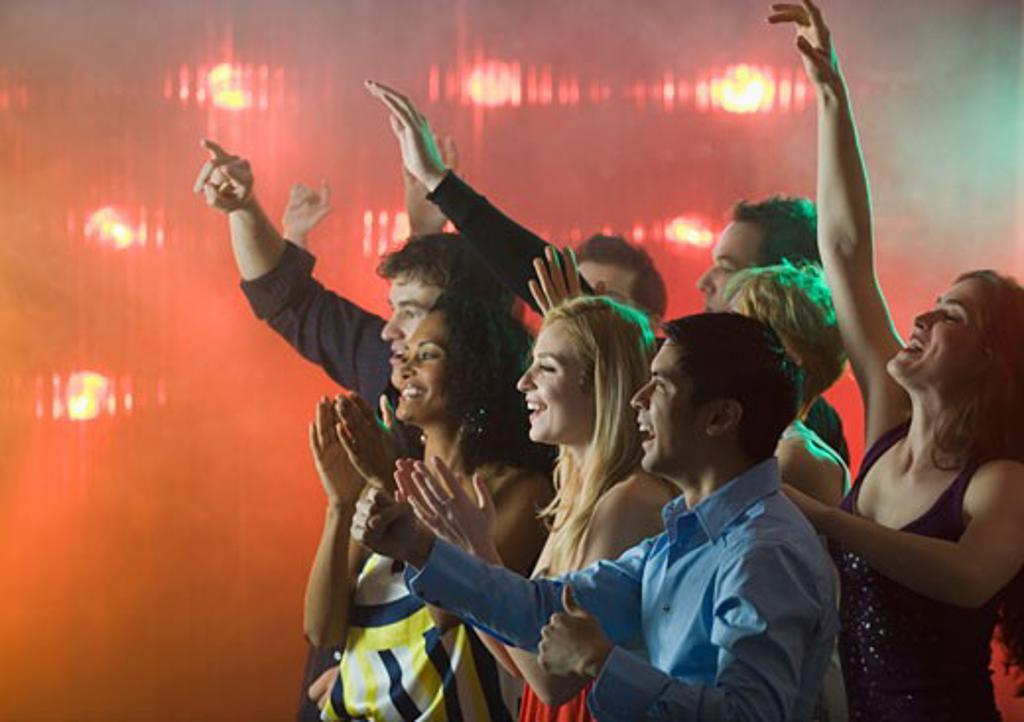 People enjoying concert : Stock Photo