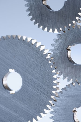 Several gears engaged : Stock Photo