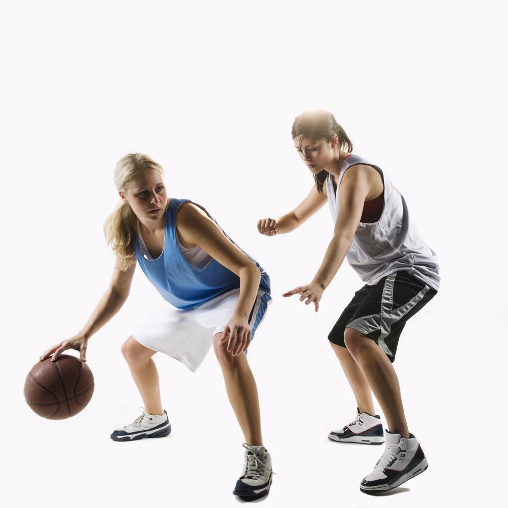 Two basketball players : Stock Photo