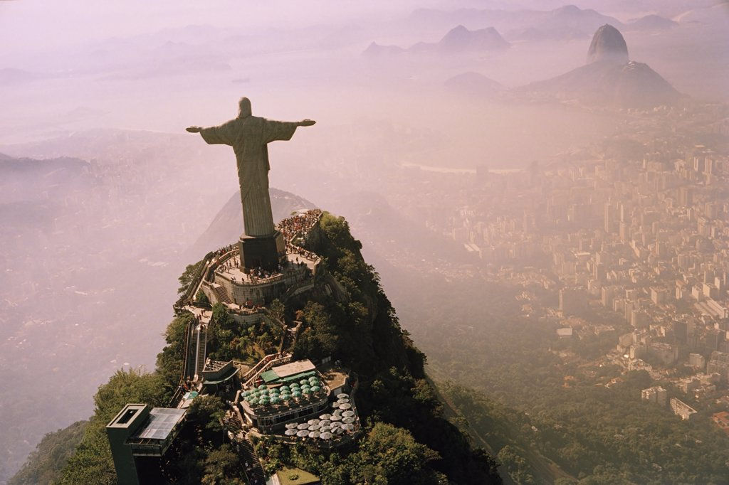 Stock Photo: 1795R-23439 Christ The Redeemer statue, Rio de Janeiro, Brazil,