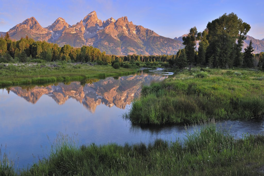 Scenic landscape of mountain valley : Stock Photo