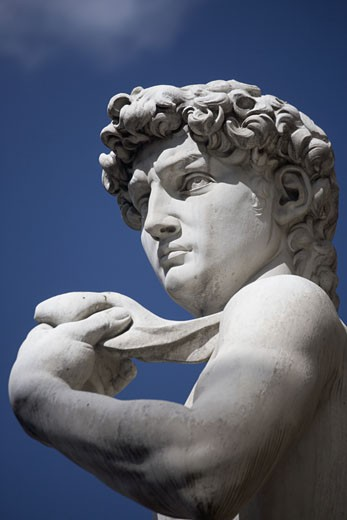 Michelangelo's David in the Piazza della Signoria Florence Italy : Stock Photo