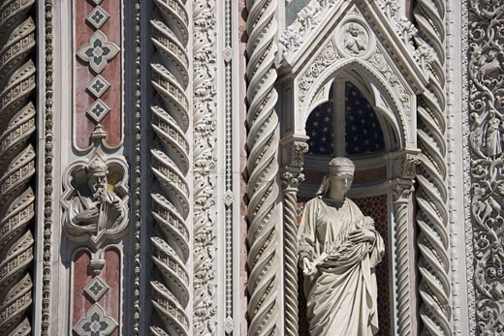 Madonna at Duomo Santa Maria Del Fiore Florence Italy : Stock Photo